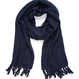 NEW DIRECTIONS Pleated Solid Blanket Wrap Shawl